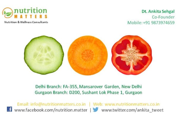 Nutrition Matters by Dt. Ankita Gupta Sehgal | Best Dietitian in Delhi NCR - Slide 1