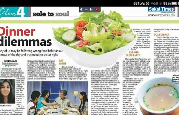 Dt.Priyanka Bhawalkar Diet & Nutrition Consultant - Slide 2